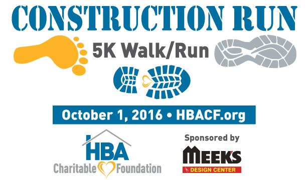 HBACF Construction Run - Sponsored by Meek's Design Center