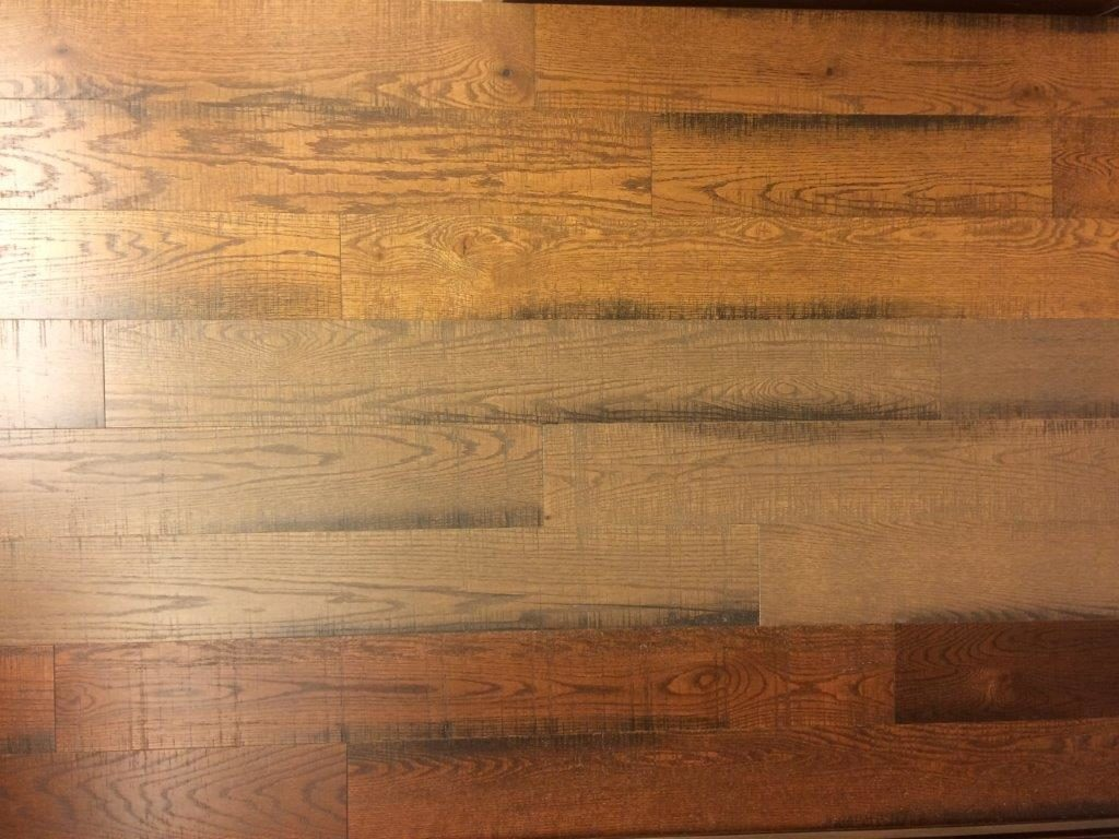 Engineered Red Oak Skipsawn hardwood flooring
