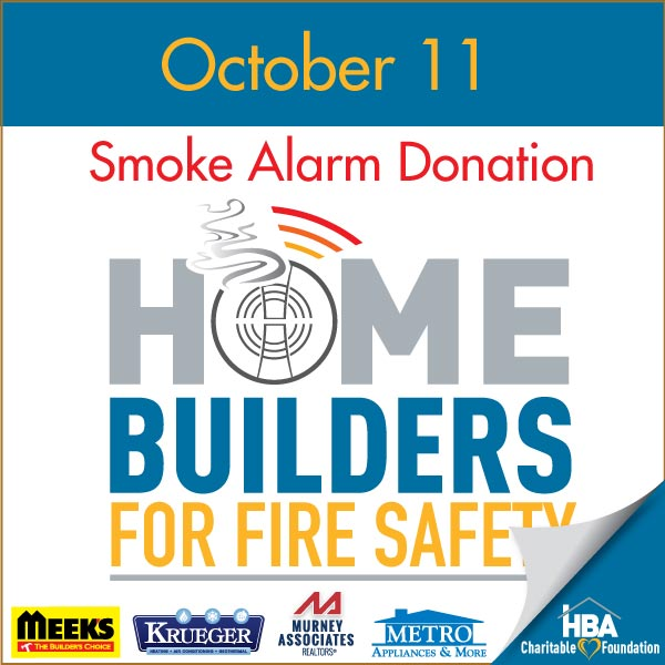 Smoke Alarms Donation sponsors - Meek's, Metro Appliances & More, Krueger HVAC, Murney Associates
