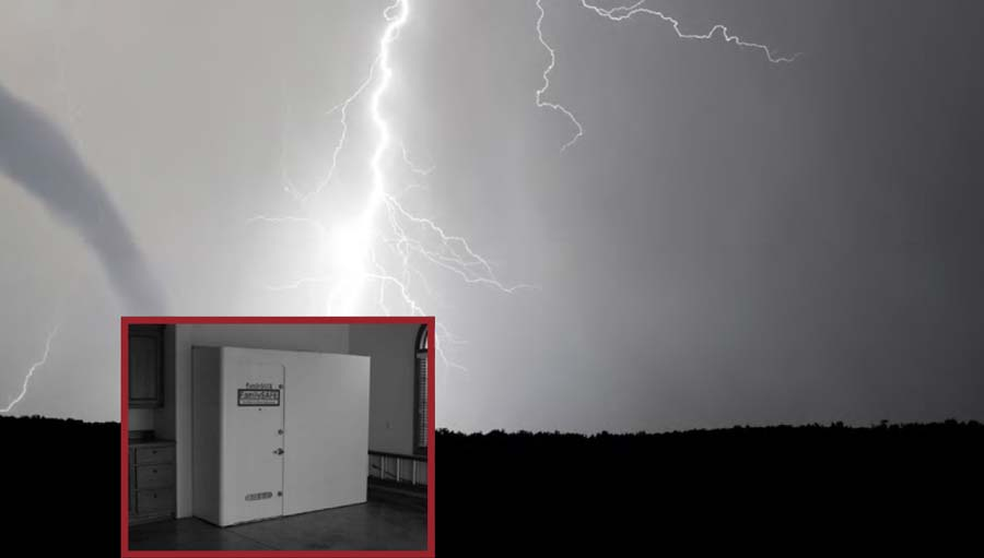 Shelter From Storm With Devices >> Can Lightning Strike Me Inside A Storm Shelter Familysafe Shelters