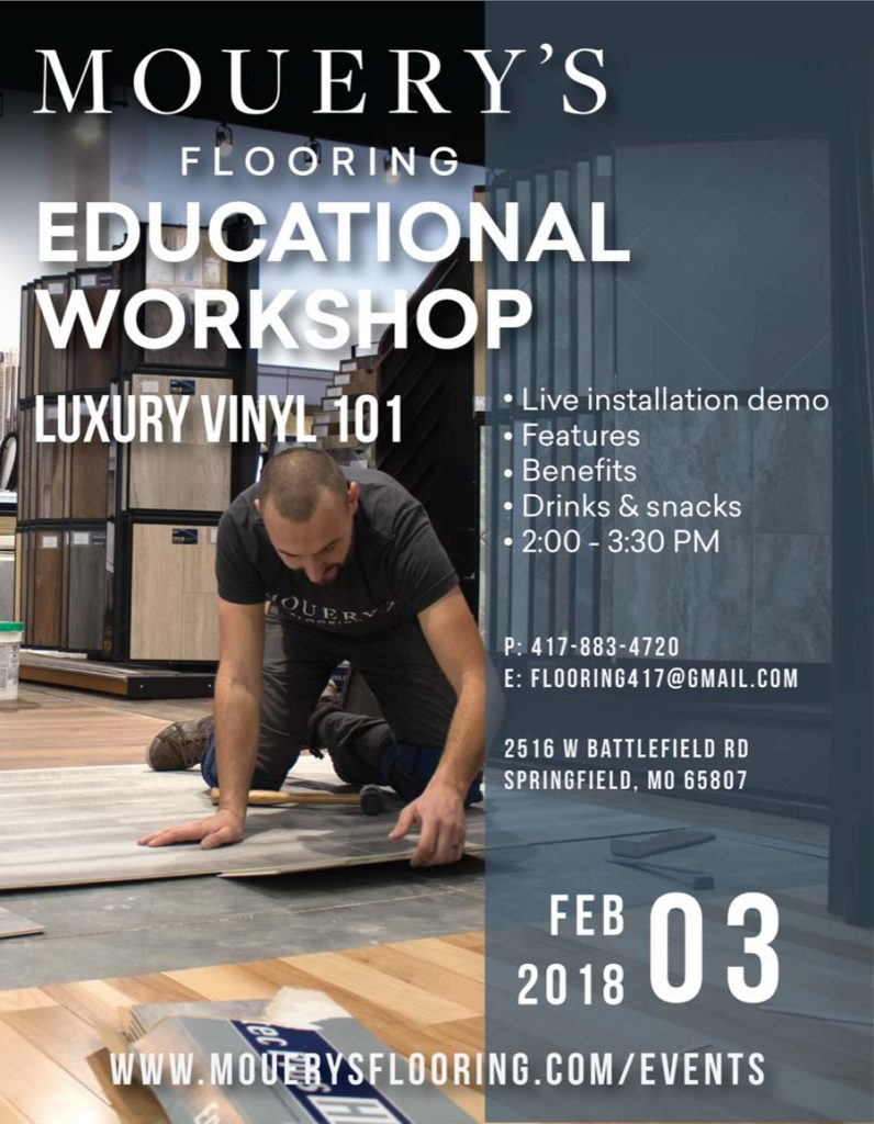 Mouery's Flooring Luxury Vinyl Workshop