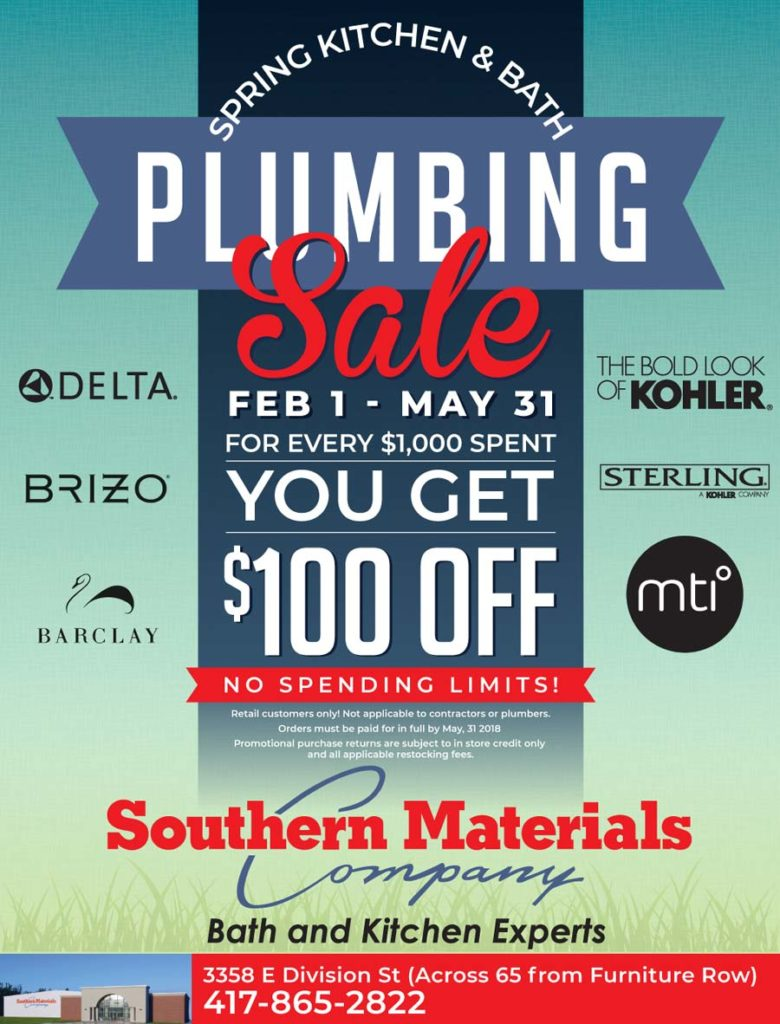Southern Materials Plumbing Sale