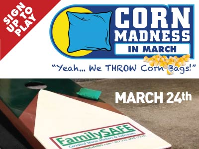 Cornhole Tournament 2020 - Sponsored by FamilySAFE
