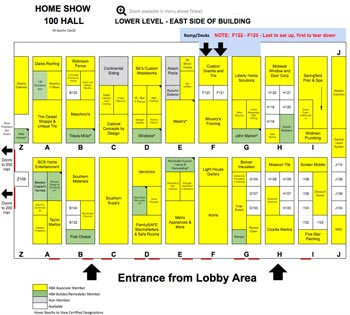 HBA Home Show 100 Hall Map Sample