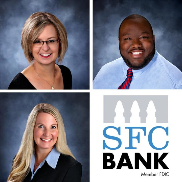 SFC Banking Team Jordon Pierce, Meridith Conboy, Missy Hayward